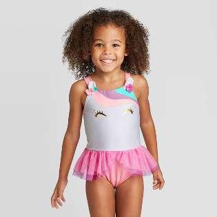 Toddlers Girl/'s 2T,3T,4T,5T 1-2 piece swimwear Disney froz Peppa Pig Minnie
