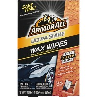 Armor All 12ct Ultra Shine Wax Wipes Deals