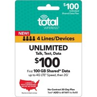 Target.com deals on $200 Total Wireless Unlimited Talk & Text Email Delivery
