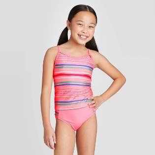 Jojobaby Baby Kids Girls One-Pieces Cute Flower Dots Bikini Swimsuit Swimwear Bathing Suits
