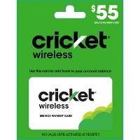$55 Cricket Wireless Service Payment Card (Email Delivery)