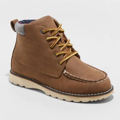 NEW Cat /& Jack Kids Big Boys Archer Lace Up Boots Brown Size 2 3 6