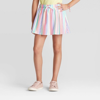 Skirt Skort Sz 7-8 or 16 Ombre Blue Pink Glitter waistband Girls