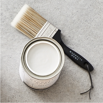 Flat Paint Brush - Magnolia Home by Joanna Gaines, Interior Paint True White - Magnolia Home by Joanna Gaines