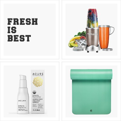 Fresh is best, C9 by Champion® Premium Fitness Mat (15mm), Magic Bullet NutriBullet Pro 900 Series, Acure Brilliantly Brightening Glowing Serum - 1 fl oz