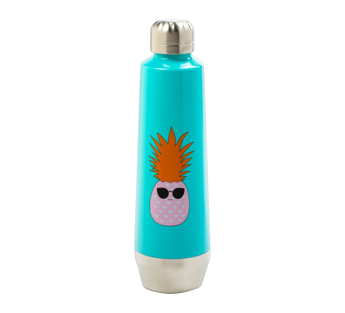 Stainless Steel Water Bottle 18oz Pineapple - Turquoise