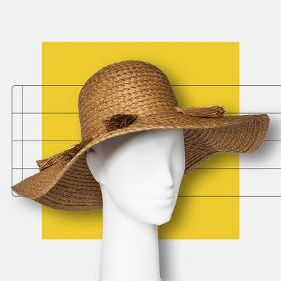 Women's Floppy Hat - A New Day™ Tan