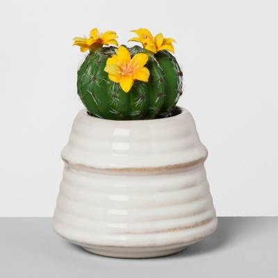 Artificial Flowering Cactus - Opalhouse™