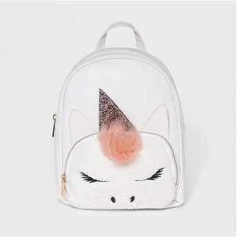 OMG! Accessories Unicorn Mini Backpack - White