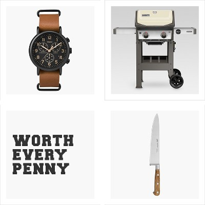 Built to last, Timex Weekender™ Slip Thru Leather Strap Chronograph Watch - Tan/Black, Weber Spirit II E-210 LP Gas Grill - Ivory, Sabatier 8 Inch Chef Knife Olivewood