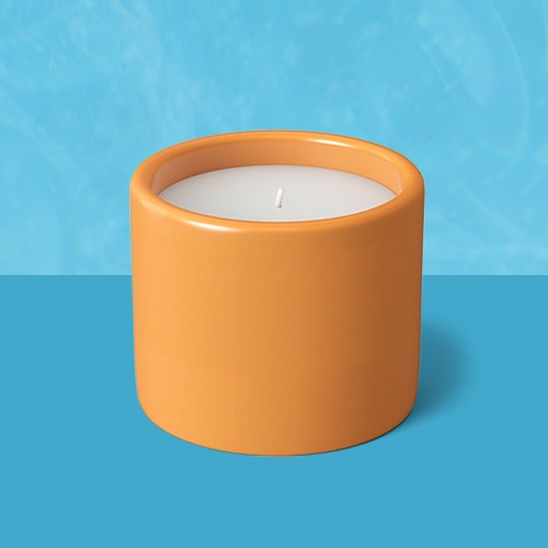 Decorative Ceramic Citronella Candle Vase Sun Orange - Project 62™