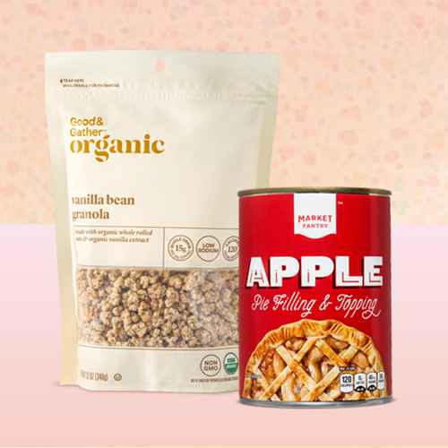 Vanilla Bean Granola - 12oz - Good & Gather™, Apple Pie Filling and Topping - 21oz - Market Pantry™