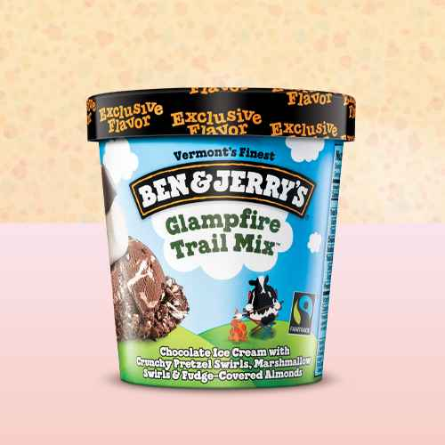 Ben & Jerry's Glampfire Trail Mix Ice Cream - 1pt
