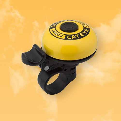 CatEye Comet Aluminum Bicycle Bell - PB-200 - Yellow
