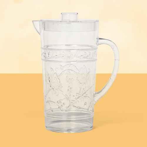 24oz Plastic Floral Embossed Beverage Pitcher - Opalhouse™