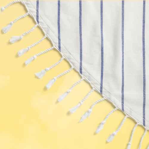 "70"" Cotton Woven Round Tablecloth Blue/White - Opalhouse™"