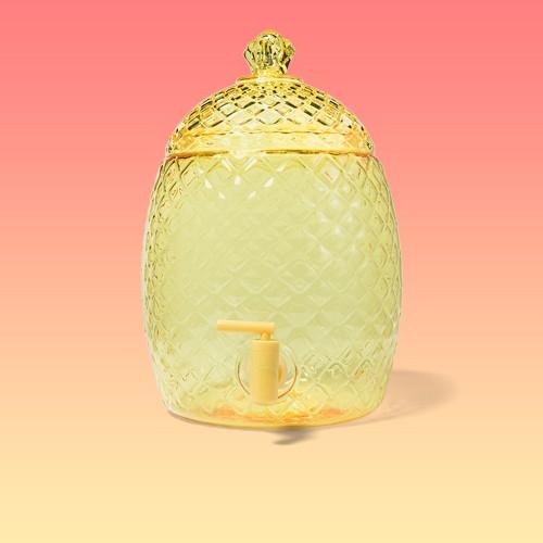 1.8gal Plastic Pineapple Beverage Dispenser Yellow - Sun Squad™