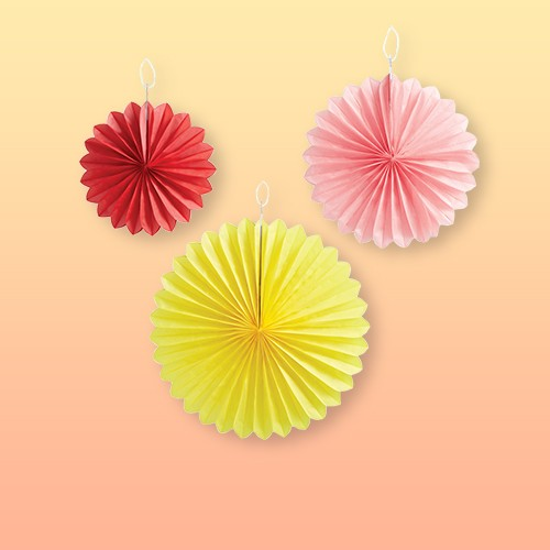 3ct Small Tissue Paper Fans - Spritz™