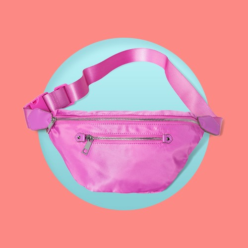 Women's Zip Closure Fanny Pack - A New Day™ Pink