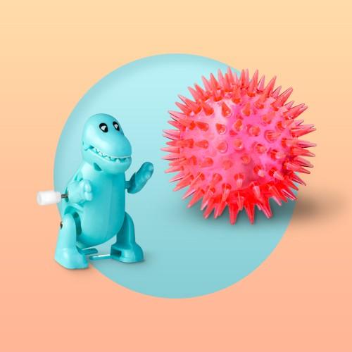 6ct Dinosaur Wind-Up Toy - Spritz™, 6ct Light-Up Spiky Ball - Spritz™