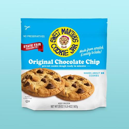 Sweet Martha's Original Chocolate Chip Frozen Cookie Dough - 20oz