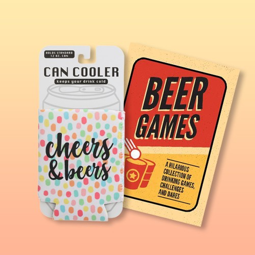 Can Cooler 'Cheers and Beers' Dotted White, Beer Games - (Paperback)