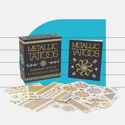 Metallic Tattoos : Temporary Tattoos to Dazzle and Delight (Paperback)