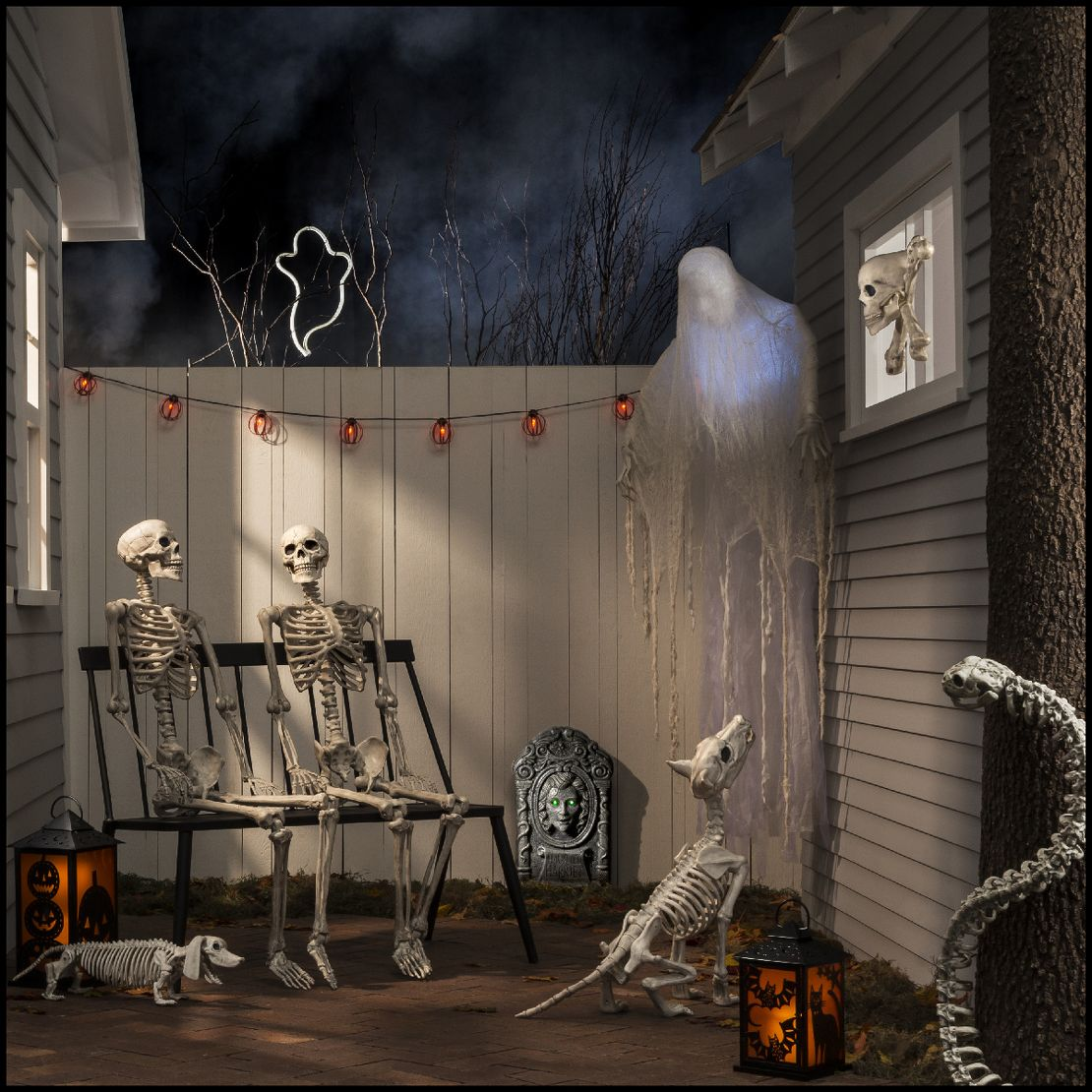the skeletons tombstones decor collection