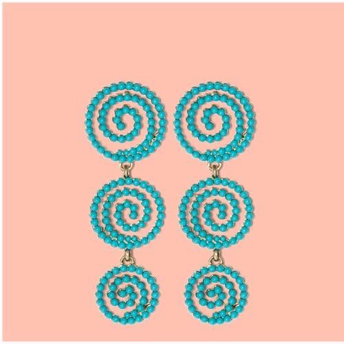 SUGARFIX by BaubleBar Beaded Swirl Drop Earrings - Blue