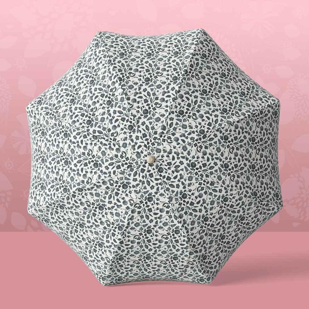 7.2' x 7.2' Round Patio Umbrella - Black Floral - Opalhouse™