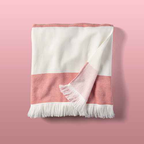 Bold Stripes Beach Towel for Two Red/White - Hearth & Hand™ with Magnolia