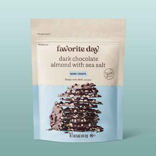 Dark Chocolate Almond with Sea Salt Bark Crisps - 5oz - Favorite Day™, Dark Chocolate Pretzel Bark Crisps - 5oz - Favorite Day™, Monster Crunchy Clusters - 6.5oz - Favorite Day™