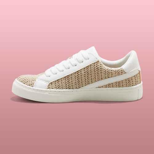 Women's Brittin Sneakers - Universal Thread™ Natural 6