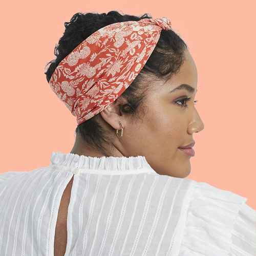 Women's Floral Print Bandana - Universal Thread™ Red One Size