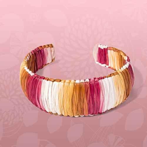 Raffia Wrapped Cuff Bracelet - A New Day™ Red