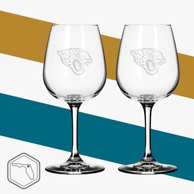 Boelter Brands Jacksonville Jaguars 2 Pack Wine Glass 12 oz