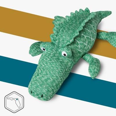 Pillowfort™ - Green Alligator Knit Throw Pillow