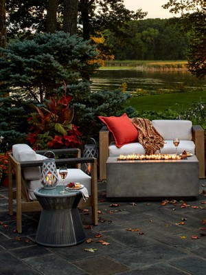 Take The Celebration Outdoors. Fire Tables