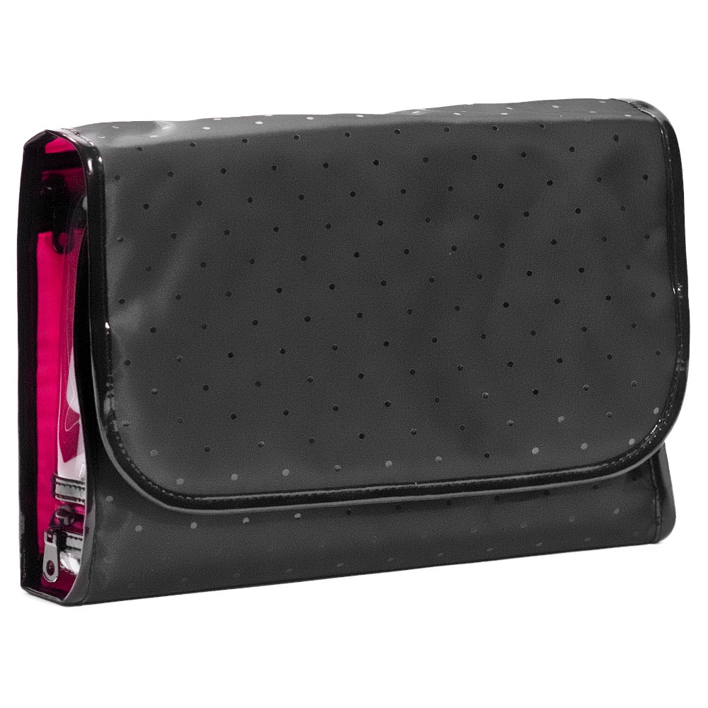 Basic Cosmetic Bag Fitted Travel Valet, Black