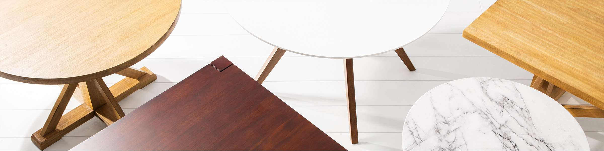 dining tables - Round Wood Dining Table With Leaf