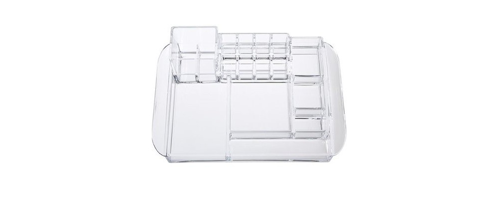 Caboodles Two Tower 12 Compartment Acrylic Tray, Clr