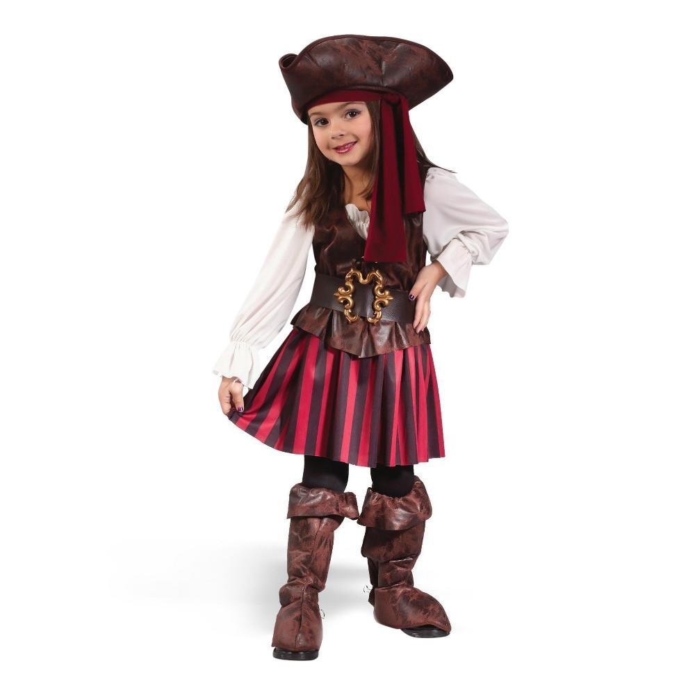 Girls Toddler Buccaneer Costume 3T-4T, Variation Parent