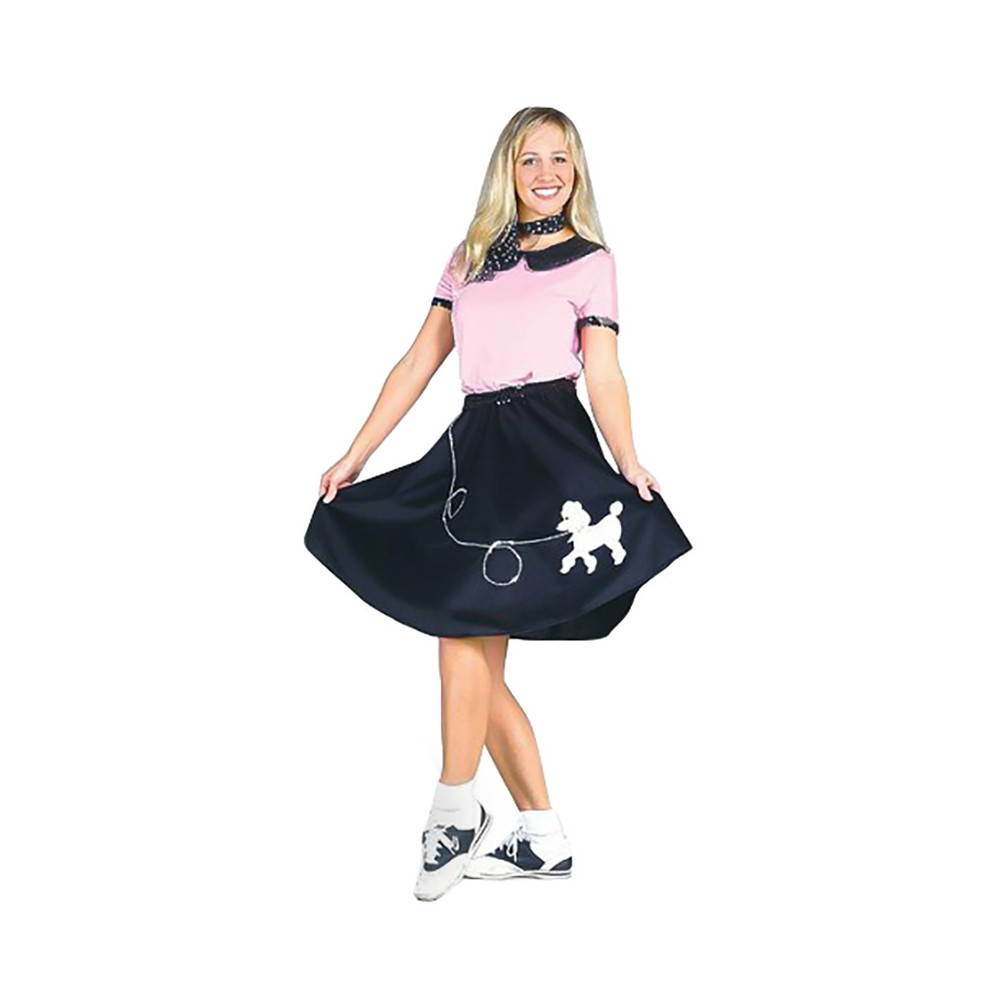 Womens 50s Hop With Poodle Skirt Costume Small, Variation Parent