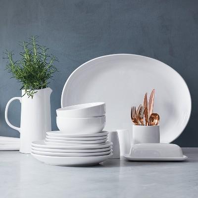 Threshold White Dinner U0026 Salad Plates + Cereal Bowls