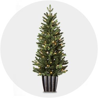 potted plants indoor christmas decorations - White Outdoor Christmas Tree