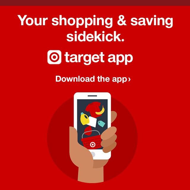 Your shopping & saving sidekick. Target App.