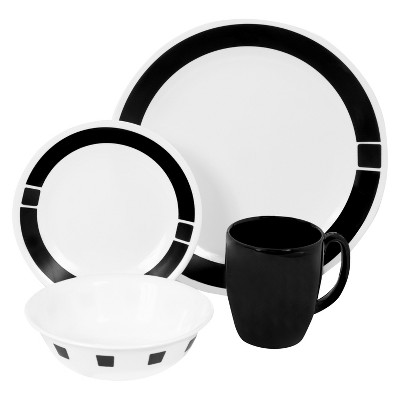 Corelle® Livingware™ 16pc Dinnerware Set Urban Black