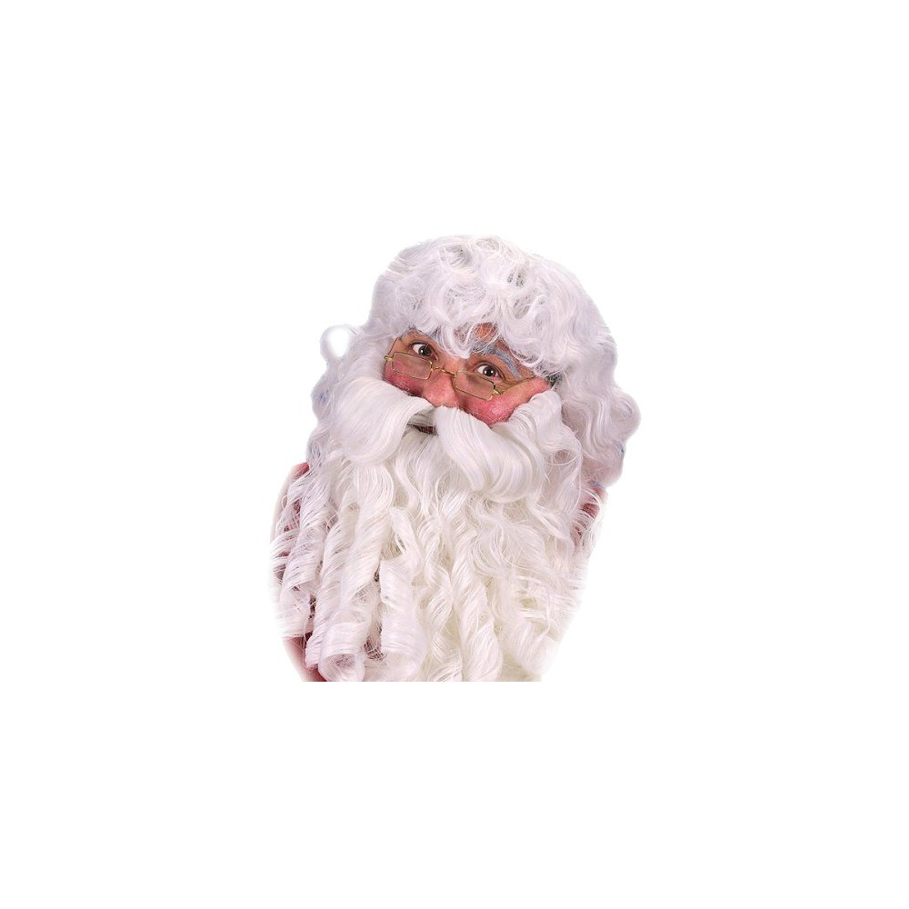 Adult Deluxe Santa Wig and Beard White, Mens