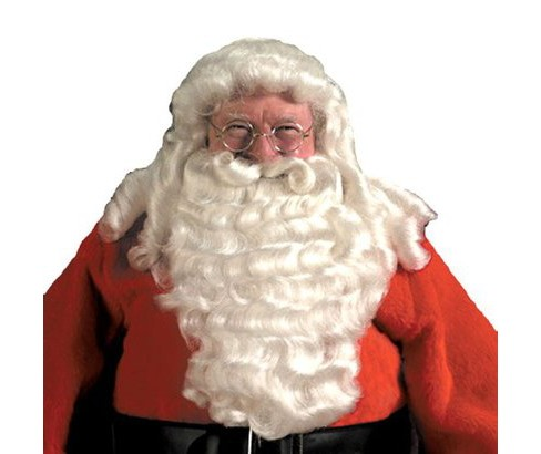 Men's Deluxe Santa Wig and Beard White - image 1 of 1