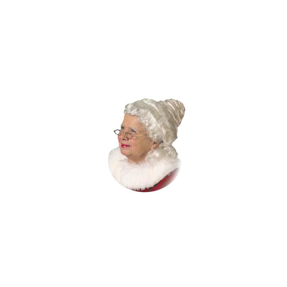 Womens Mrs. Claus Wig White